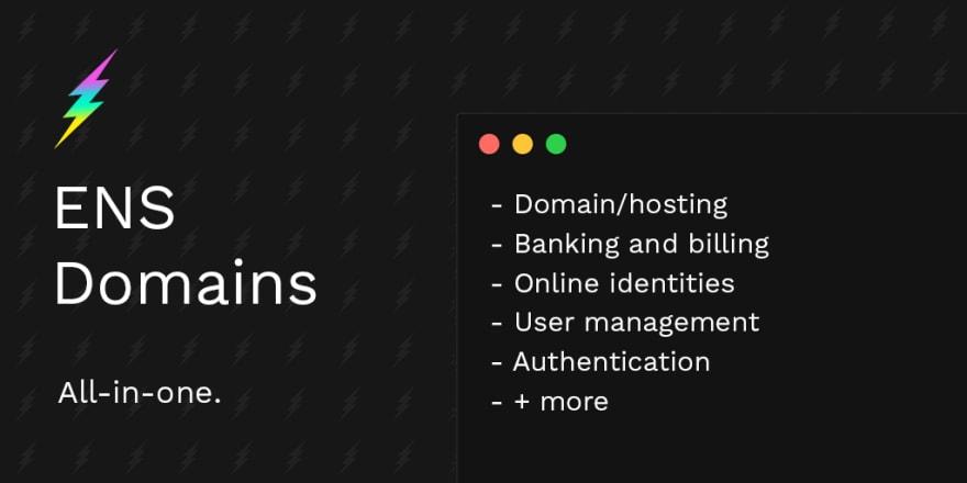ENS Domains web infrastructure