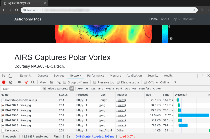 AIRS Captures Polar Vortex