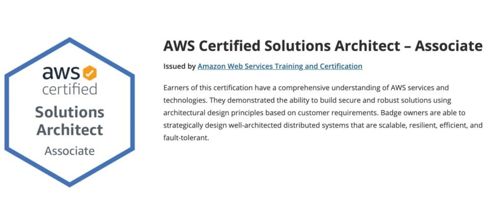 Cover image for How I studied for the AWS Solutions Architect Associate certification exam