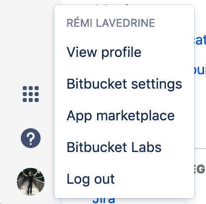 Bitbucket : Go to Settings