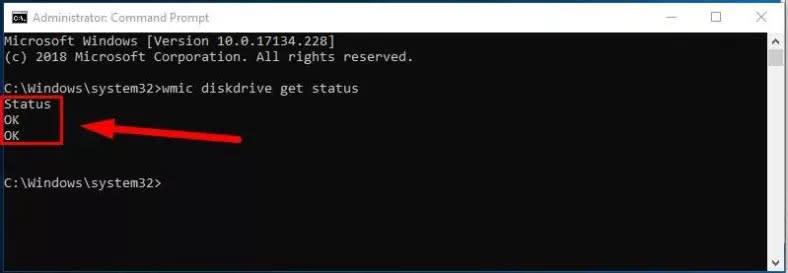 Windows 10 will analyze the disk data