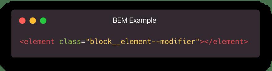 BEM Classname Format