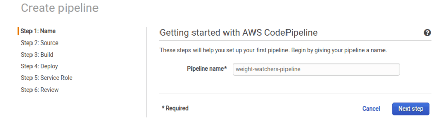 CodePipeline Name