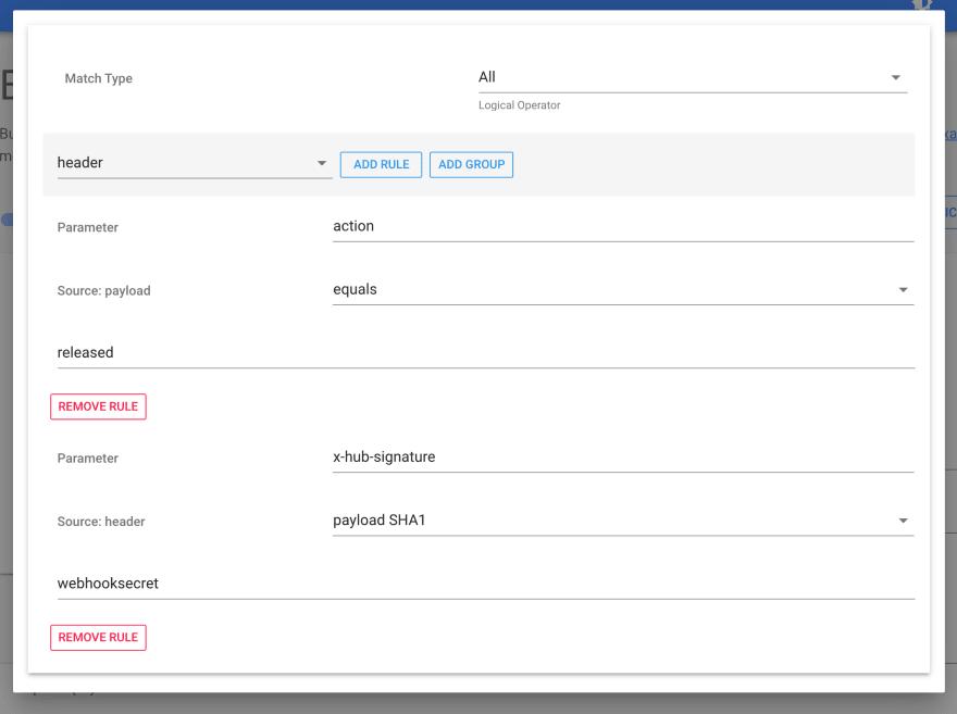 webhook filter signature