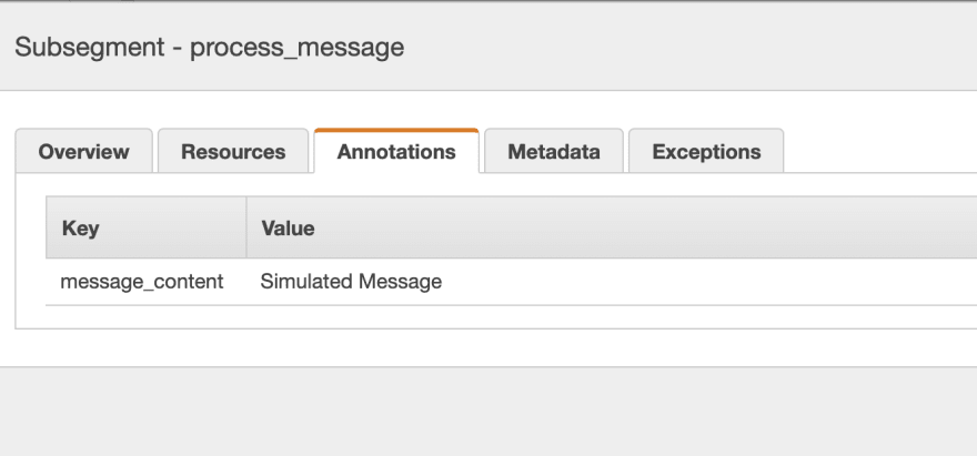 annotations on segment in console