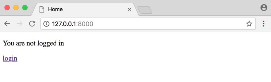 Homepage login link