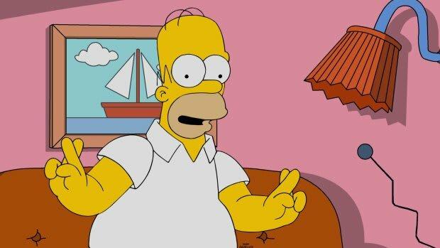 Homer Simpson Fingers Crossed