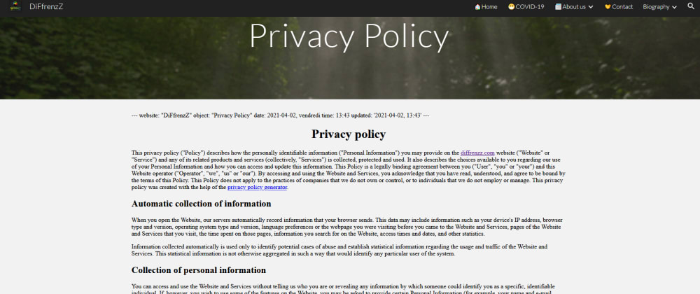 Cover image for 📓=Editing Privacy Policies, Incurs Risks! =✋🔺