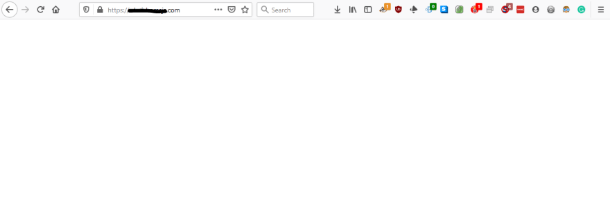 A site rendered with JavaScript shows a blank page when the user has JavaScript turned off