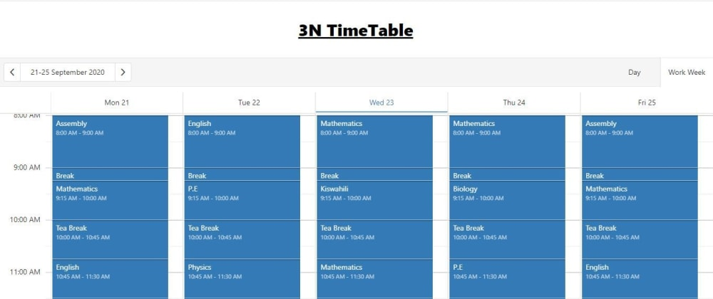 Cover image for Building a school timetable and using Google Calendar API as the backing API.