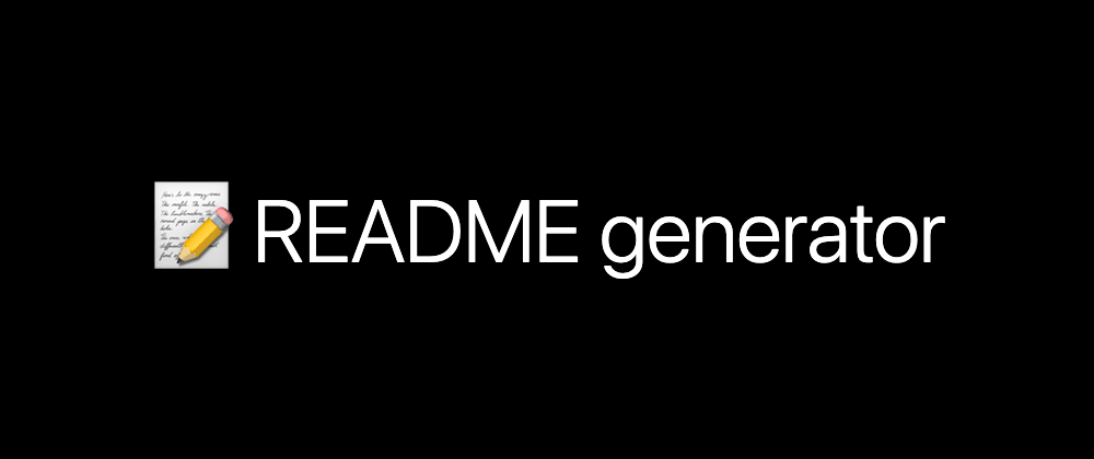 Cover image for Generate beautiful README in 10 seconds