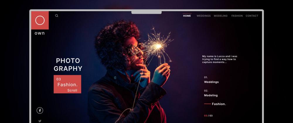 Cover image for Portfolio Website Design with HTML & JavaScript
