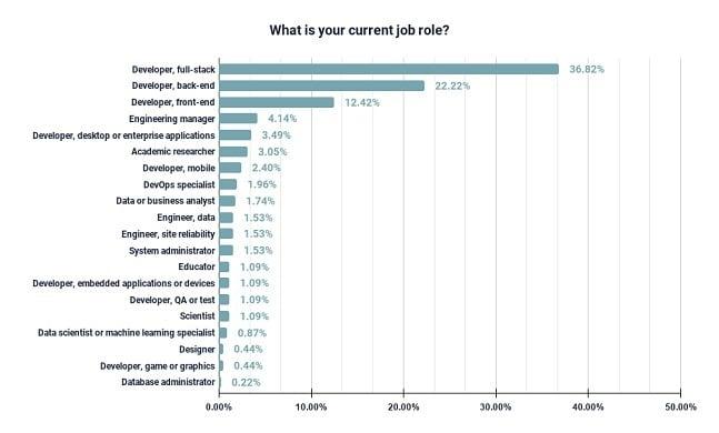developer titles in this survey