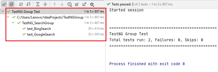 TestNG Group Search