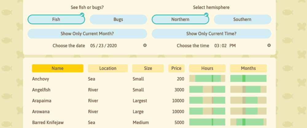 Cover image for I Built a Tool to Catch Fish and Bugs in Animal Crossing with React and TypeScript
