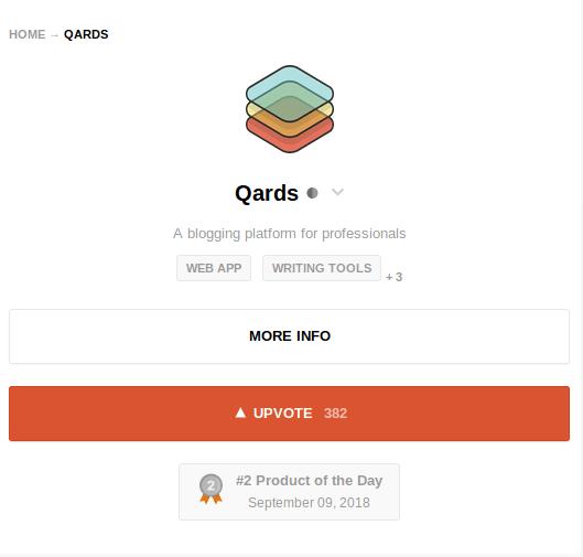 Qards on ProductHunt