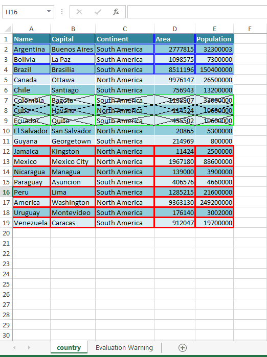 Add boraders to Excel