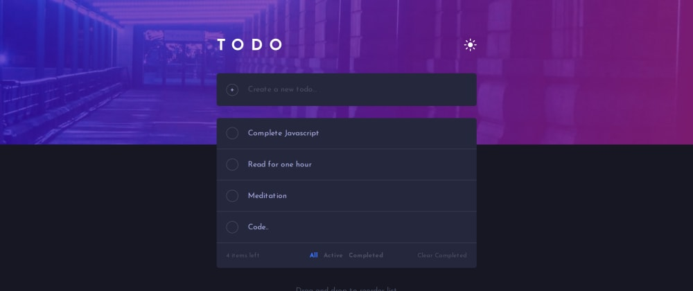 Cover image for TODO APP using HTML, CSS and JS - Local Storage [Design - HTML and CSS]
