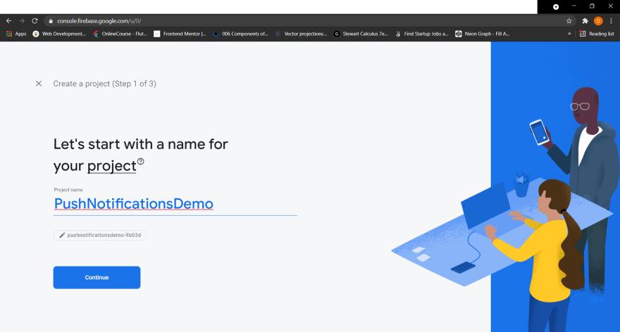 Firebase creation process image