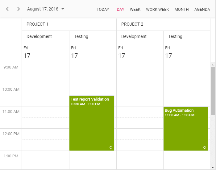 Scheduler with multiple resources