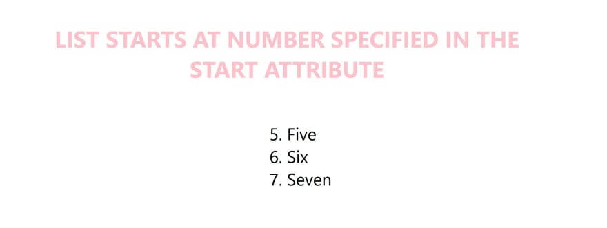 Example of start attribute