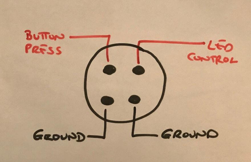 Wiring diagram for each button.