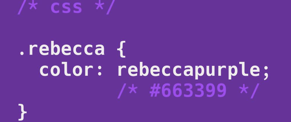 Cover image for TIL: rebeccapurple