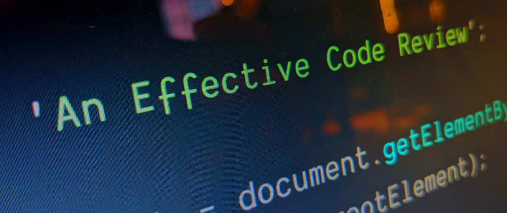 Cover image for Guide to an Effective Code Review