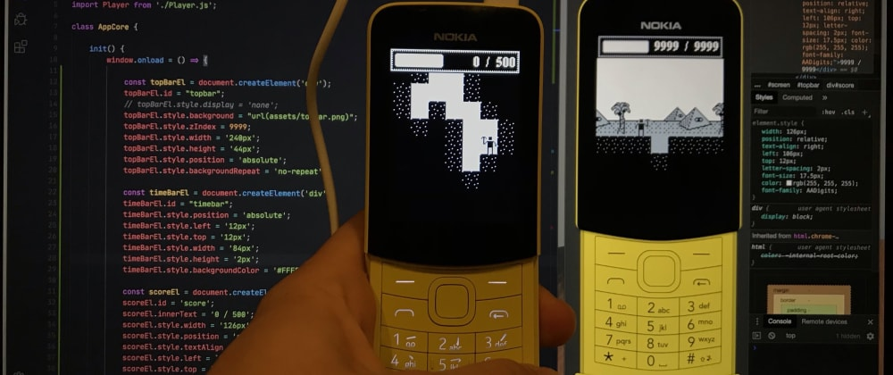 Cover image for Creating a game for feature phones using JavaScript