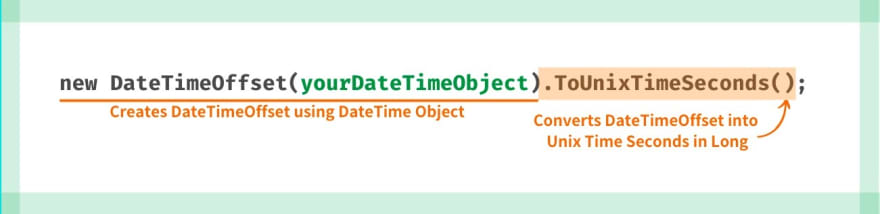 DateTime Object to Unix Timestamp in Seconds