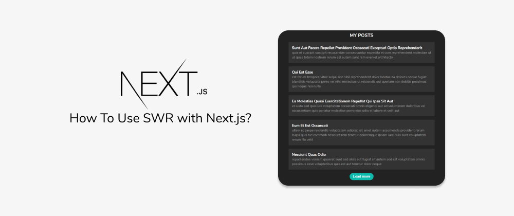 Cover image for Data fetching in Next.js — How To Use SWR