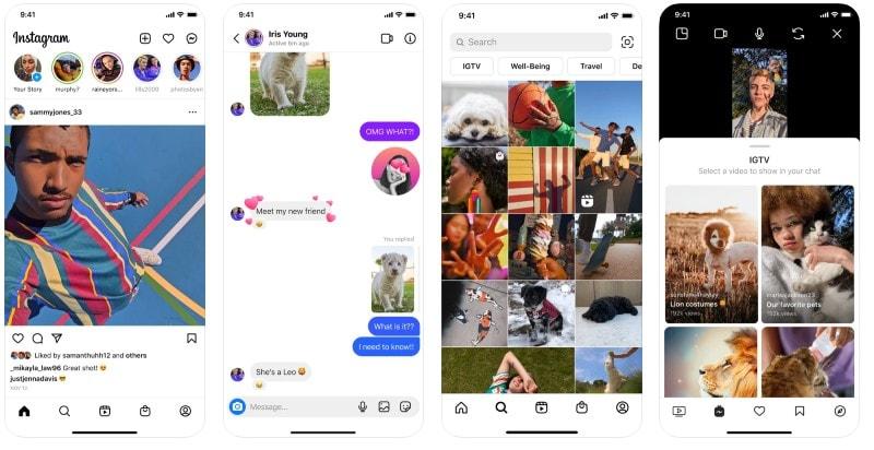 React Native apps: Instagram app screenshots