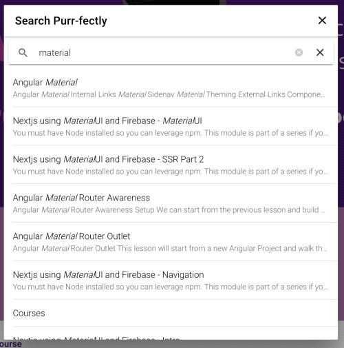 modal search