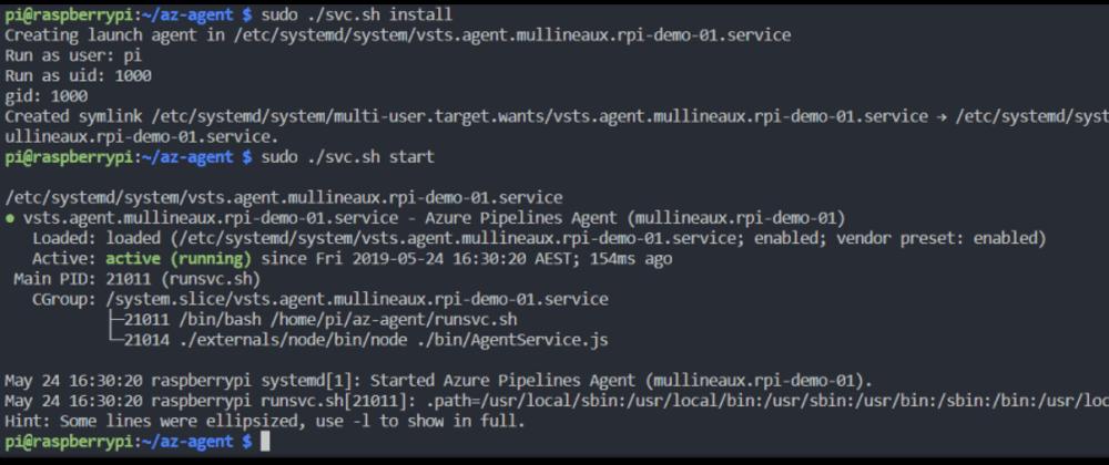 Cover image for Deploy a docker container to a RaspberyPi via Azure DevOps