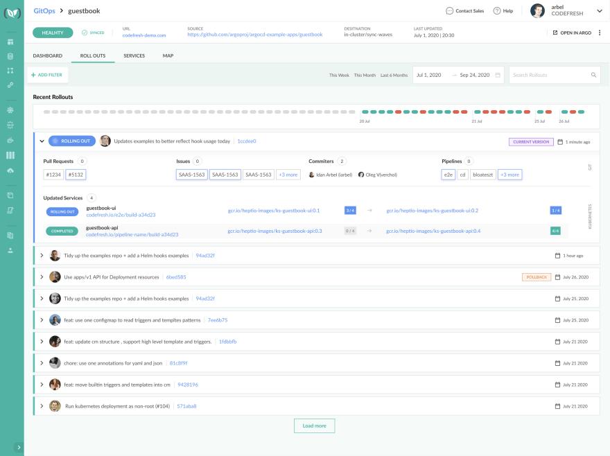 Codefresh GitOps Dashboard