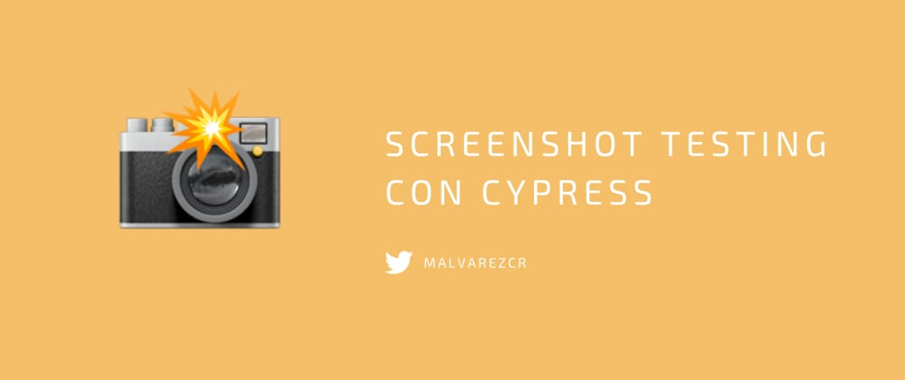 Cover image for Screenshot testing con Cypress