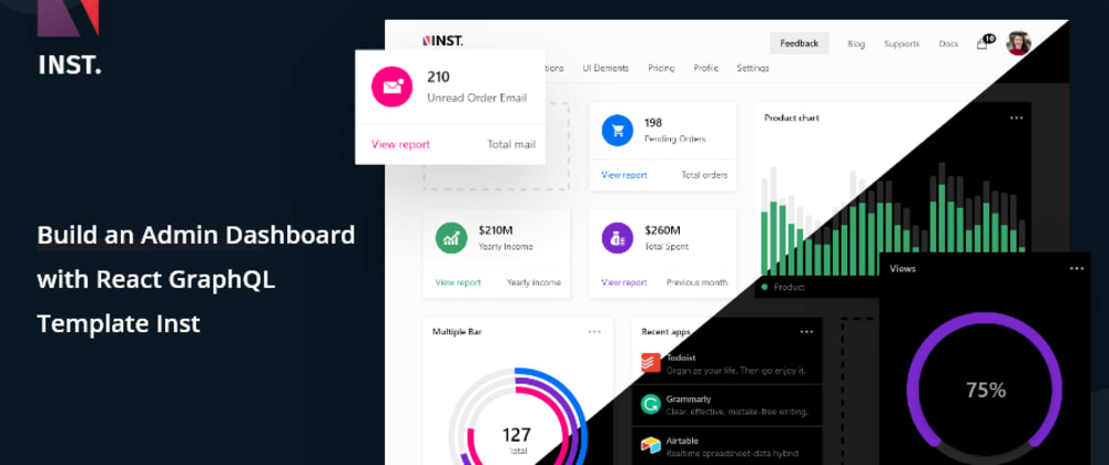 Cover image for Build An Admin Dashboard Using React & GraphQL