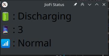 JioFi Plasmoid