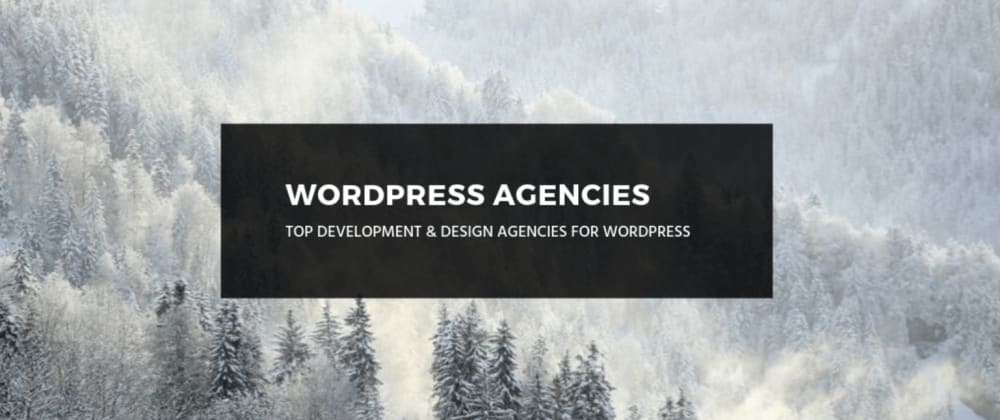 Cover image for Any suggestions for great WordPress agencies?
