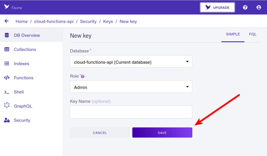 New key form
