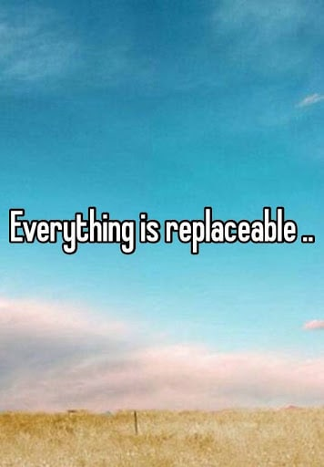 Everything is replaceable