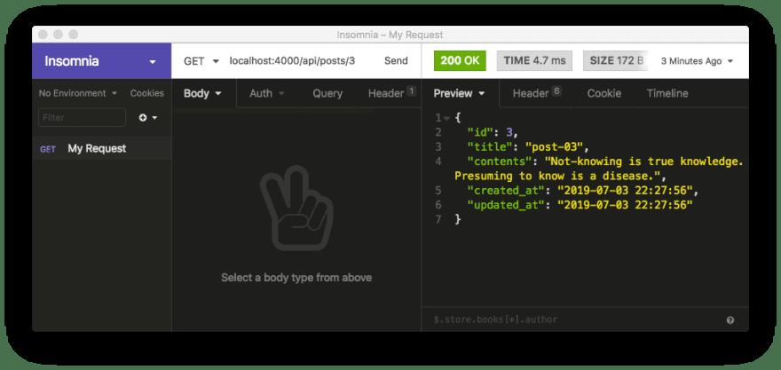 Return item in a JSON object