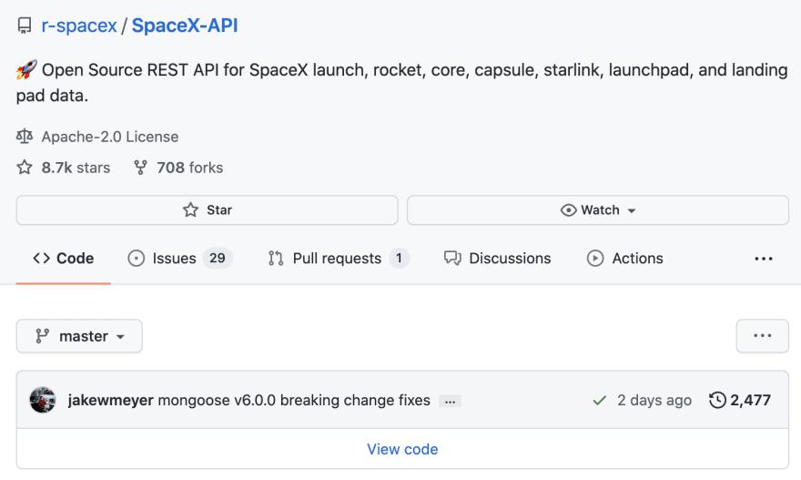 SpaceX API