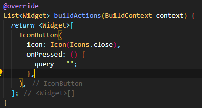 buildActions method