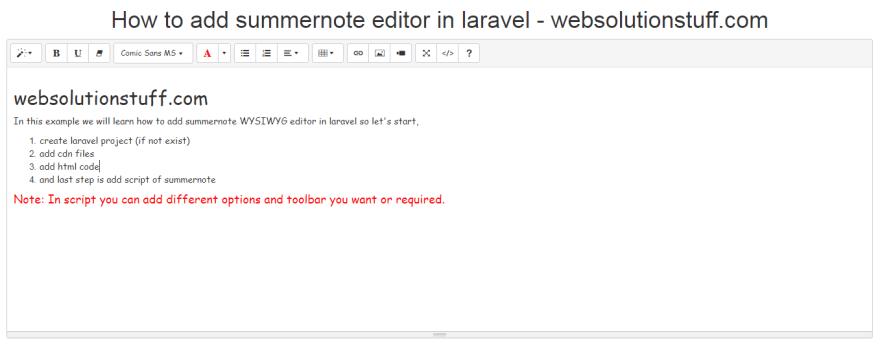 Summernote Editor