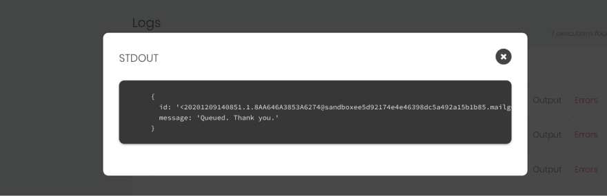 Email API Response