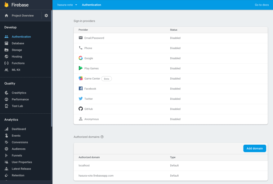 Image of Firebase Authentication