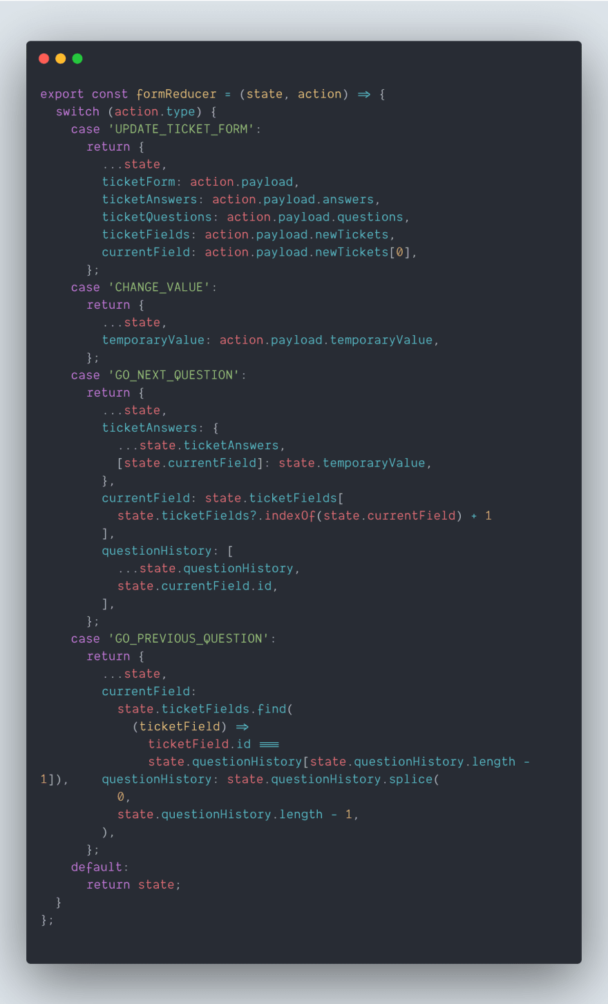 A better approach with a reducer
