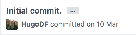 First commit to the Code with Hugo repository