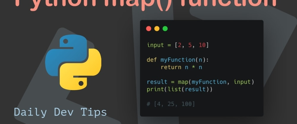 Cover image for Python map() function